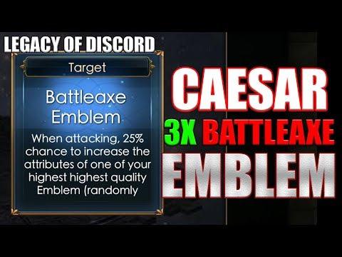 Legacy of Discord: CAESAR Reforged 3x BattleAxe Emblem