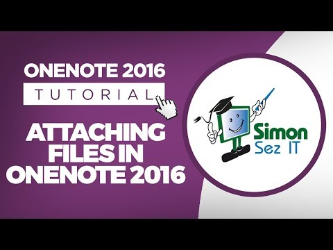 How to Attach Files in Microsoft OneNote 2016