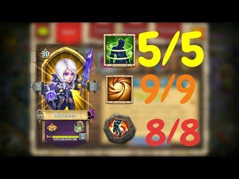 Rosaleen L 5/5 Holy Conviction L 9SL 8SS 30BT L Castle Clash