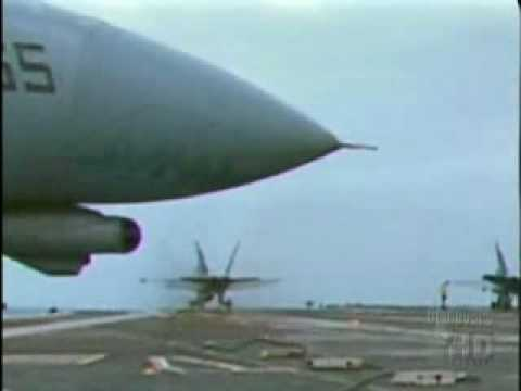 AIRCRAFT CARRIER ARRESTING CABLE BREAKS