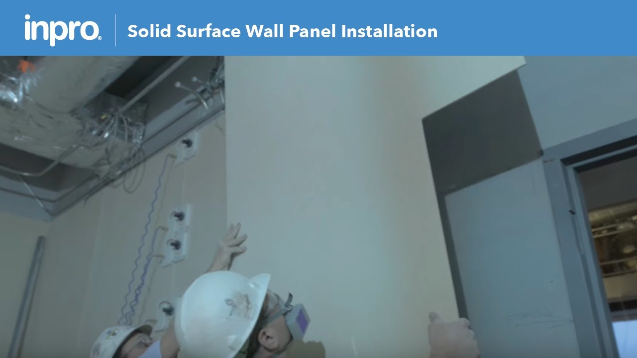 How to Install Endurant® Solid Surface Wall Panel with a Hard Seam ...