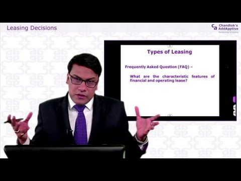 CALS - CA Final Strategic Financial Management, Types of Leasing 55