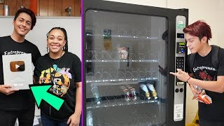 Going BACK To Our Old HIGH SCHOOL To Use Their Vending Machines!!