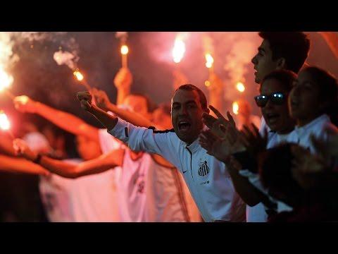 Festa da torcida no primeiro jogo da final da Copa do Brasil