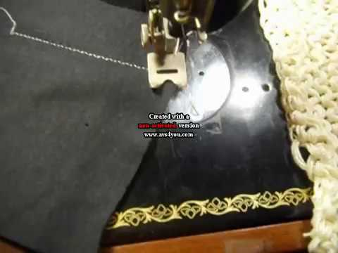 Using Singer Antique Automatic ZigZagger on Singer 15-91