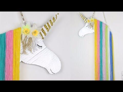 DIY Rainbow Unicorn Wall Decor - Unicorn Hair Clip Holder