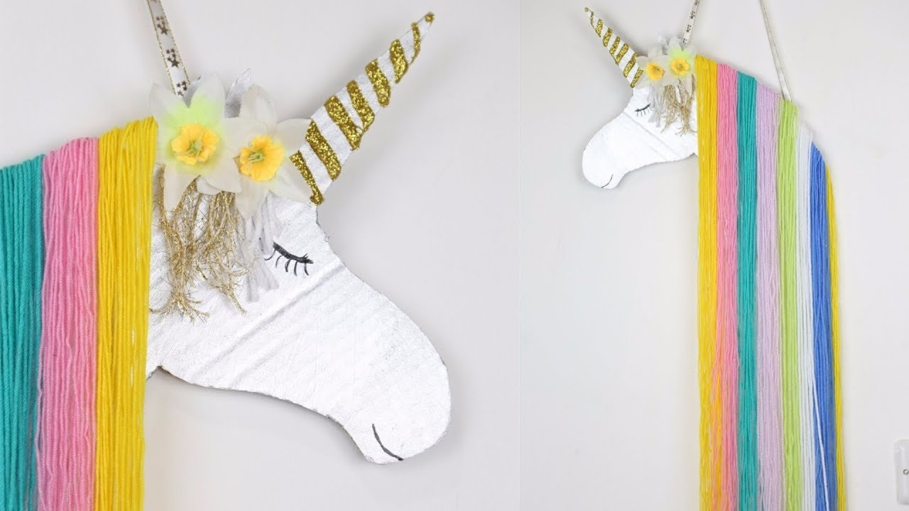Diy Rainbow Unicorn Wall Decor Unicorn Hair Clip Holder