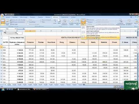 Excel : Figer les volets