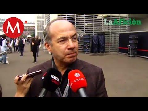 Felipe Calderón, a favor del Gran Premio de México