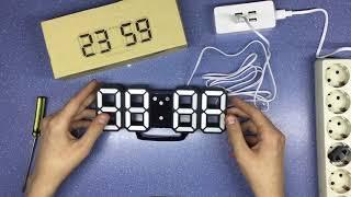Распаковка, обзор. Светодиодные цифровые настенные часы из Китая