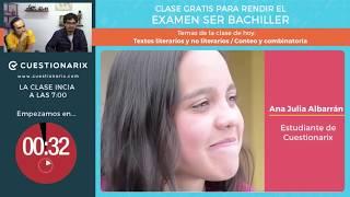 Textos Literarios y No literarios - Conteo y Combinatoria para examen Ser Bachiller