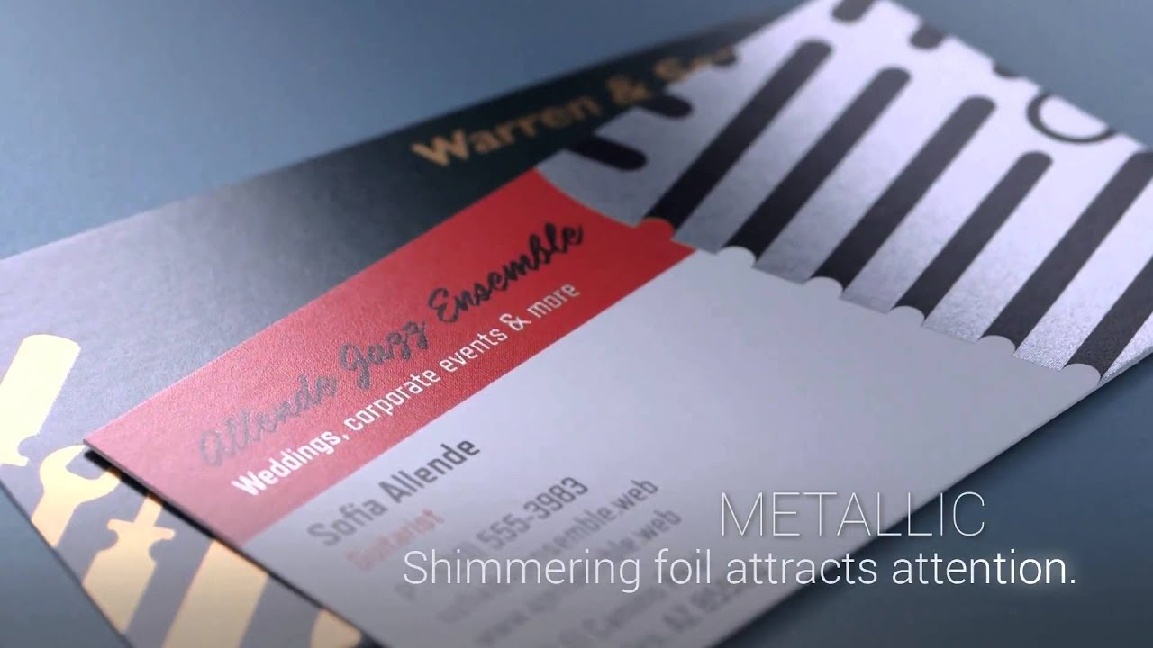 Brilliant Finishes by Vistaprint Memorable Business Cards - YouTube