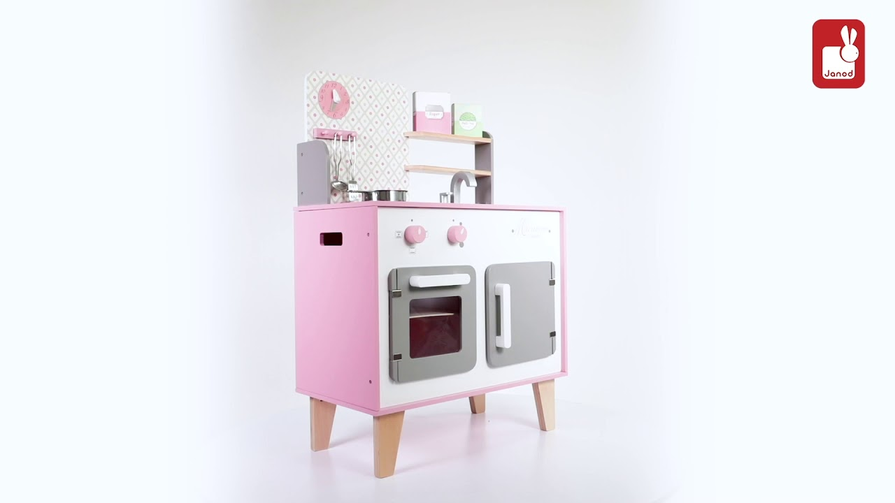 Wooden Toy Cooker Janod Macaron Cooker Kitchen Toys At Little