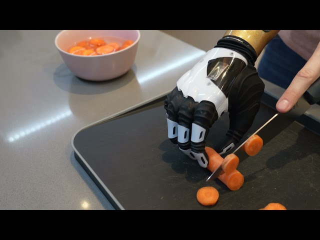 The Nexus Hand Demonstration - Chopping Vegetables | COVVI