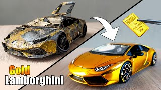 Restoration Lamborghini Huracan to 24k GOLD