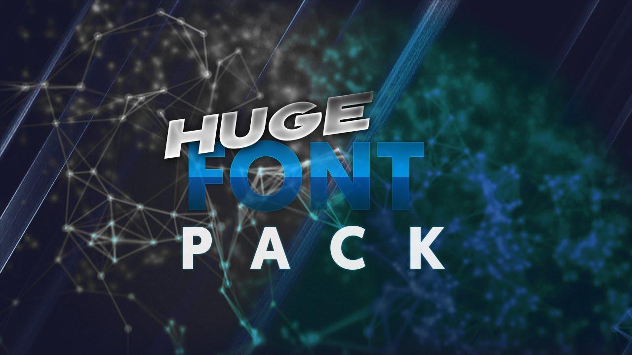 Download HUGE FREE FONT PACK! OVER 50+ - YouTube