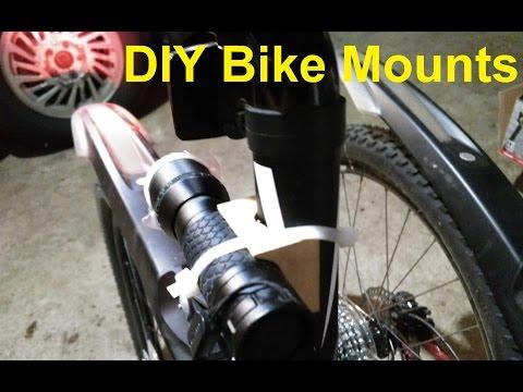 DIY Bike Light Mounts
