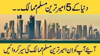 Top 5 Richest Muslim Countries In The World | Richest Countries In Urdu/Hindi
