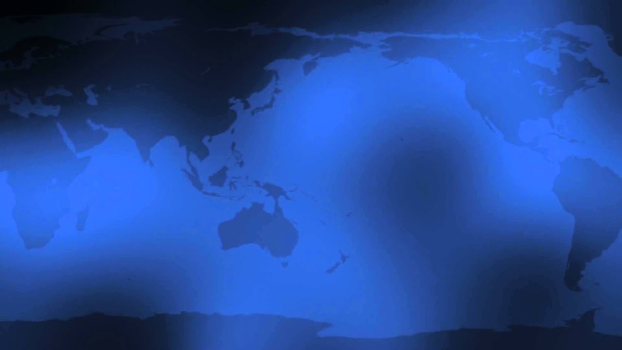 blue world map hd background loop