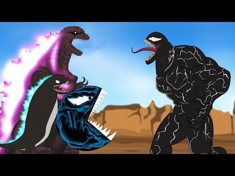 Godzilla Vs Shin Godzilla - PAC-MAN:  Venom Attack | Godzilla Cartoon Funny