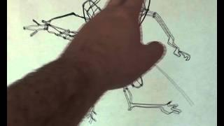 3D Prehistoric Mosquito Wire Sculpture.mov