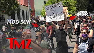 Machine Gun Kelly Hits L.A. Streets to Protest George Floyd Death | TMZ