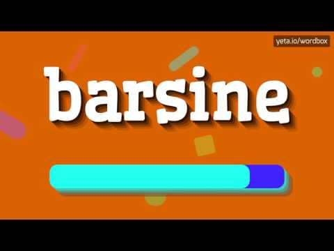 BARSINE - HOW TO PRONOUNCE IT!?