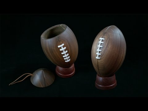 Woodturning with Tim Yoder- Beads of Courage Football Box