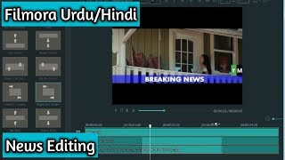 How to make a news template | in filmora video editor free | urdu/hindi