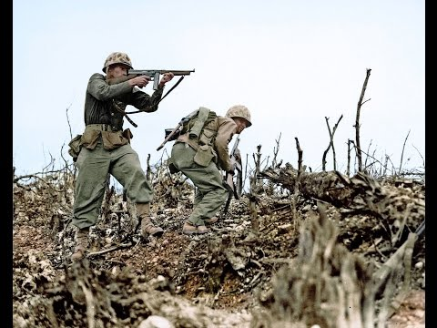 U.S. Marines WW2 Combat Footage