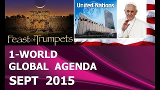 POPE Francis Leads U.N. 1-World GOVT Official 'SIGNING' & Launching (Sept 2015)
