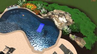 Monogram Custom Pools 3d Design With Swim Up Bar In Lehigh Valley, Lehigh County Pa