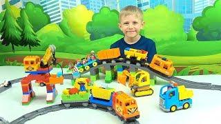 Поезда и Машинки для детей | ЛЕГО Экскурсия по Железной Дороге | Лего Мультик для маленьких детей