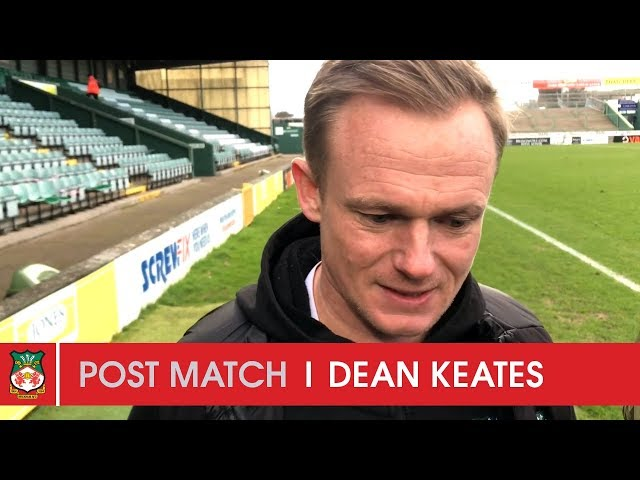WATCH | Dean Keates after Yeovil Town