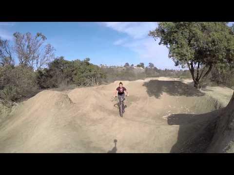 Sheep hills dirt jumps California drone