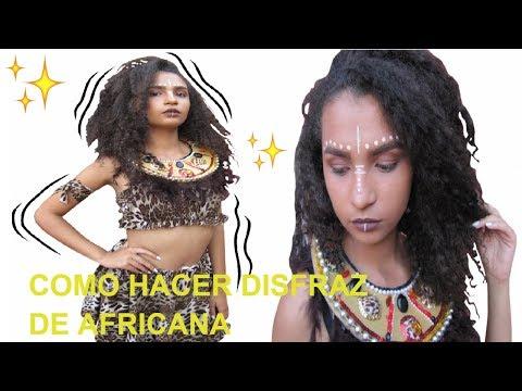 COMO HACER DISFRAZ AFRICANO + MAKEUP TRIBAL | Marialis