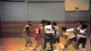 Wurtsmith Air Force Base intramural Baskeball fight.