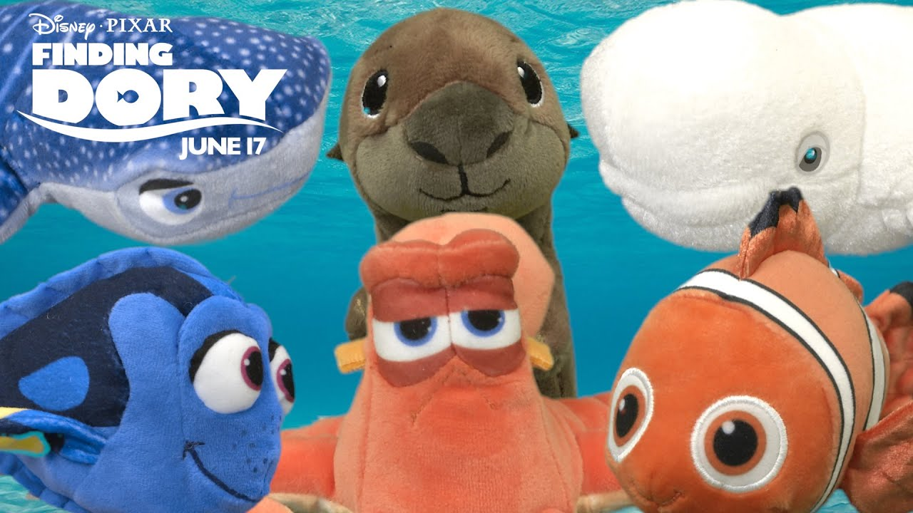 finding dory small stuffed dory nemo hank sea otter bailey