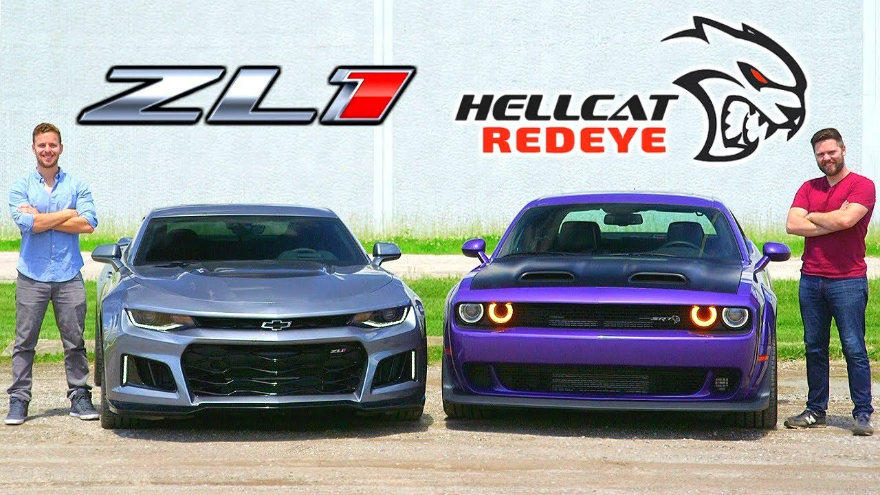 dodge challenger hellcat redeye vs camaro zl1 2019 Dodge Hellcat Redeye vs Chevrolet Camaro ZL1
