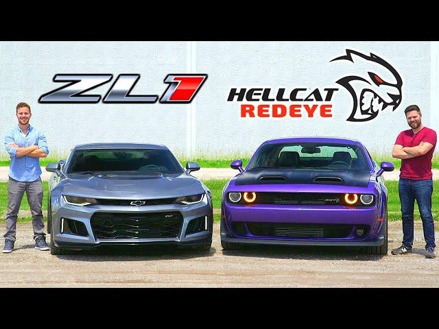 2019 Dodge Hellcat Redeye vs Chevrolet Camaro ZL1 // Horsepower Wars