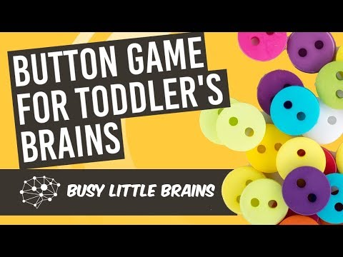 DIY Toddler Learning Game | Button Squiggles - for Early Childhood Education and Development