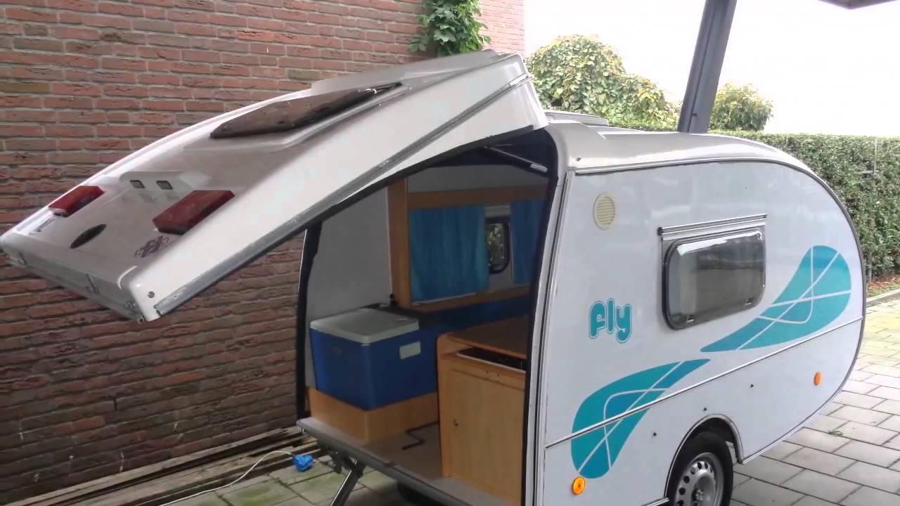 caravan te koop fly mini caravan youtube. Black Bedroom Furniture Sets. Home Design Ideas