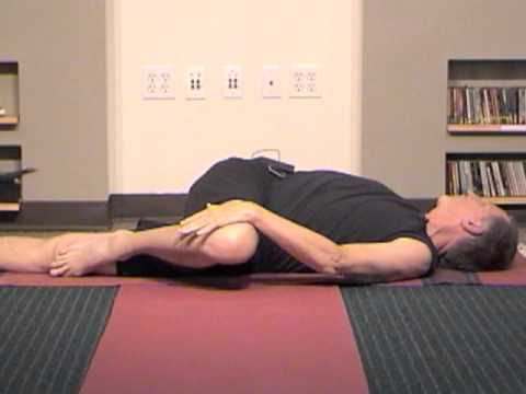 beginner's yoga for back pain release 1  the core supine