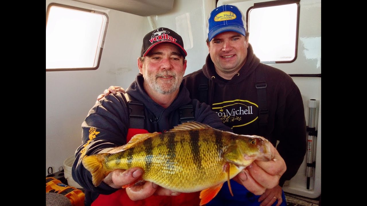 Epic perch bite on devils lake youtube for Devils lake ice fishing reports