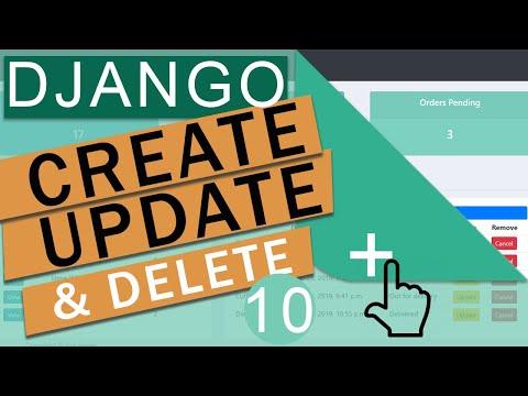 Create Update & Delete (CRUD) With  Model Forms   Django (3.0)  Crash Course Tutorials (pt 10)