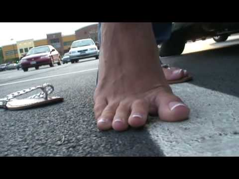 Stepped on barefoot - YouTube