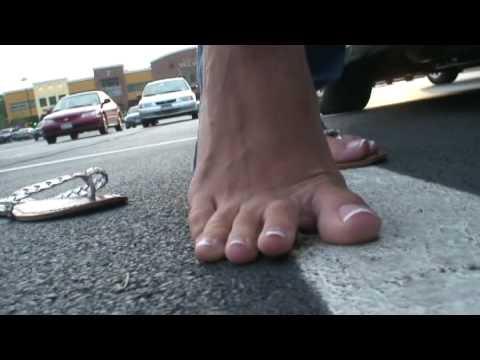 Bare foot bug crush