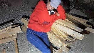 캠핑카 제작에 사용될 중고 목재 팔레트 쉽게 분리하는 …