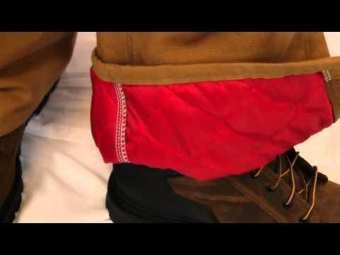 Carhartt Duck Bib Overall-Quilt Lined R02 - YouTube : carhartt quilt lined duck bib overalls - Adamdwight.com