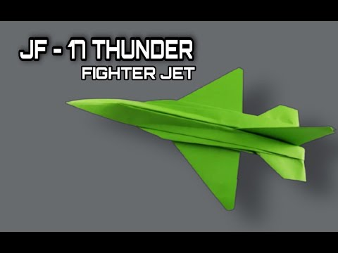 How To Make A Paper Airplane - Best Paper Plane Origami Jet Is Cool | JF - 17 THUNDER